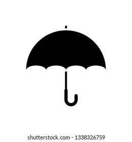 Black Umbrella icon isolated on white background. Vector Illustration