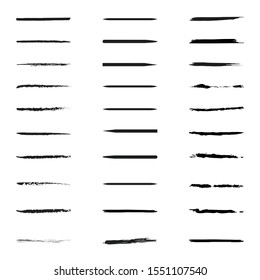 Black Underline Set Collection Vector