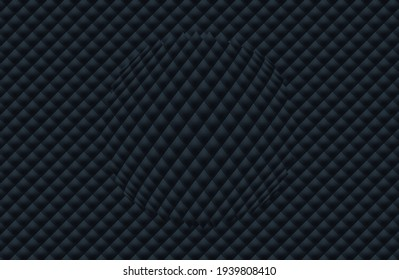 Black upholstery. Geometric pattern. Stylish texture. Luxury black background. Vector illustration.Suitable for your design. Cover, poster, flyer.