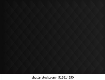 Black upholstery. Geometric pattern. Stylish texture. Luxury black background. Vector illustration