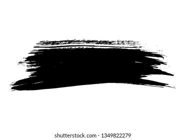 black vector brushstroke