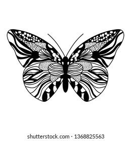 black vector butterflies
