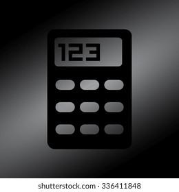 Black vector calculator icon