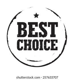 Black vector circles grunge stamp BEST CHOICE