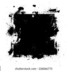 Black Vector Grunge Shape