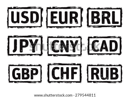 Black Vector Grunge Stamp Currency Symbol Stock Vector Royalty Free