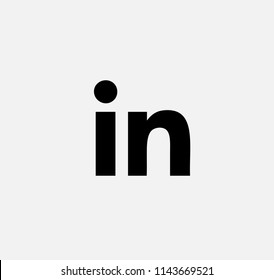 black vector icon linkedin. linkedin button.linkedin logo
