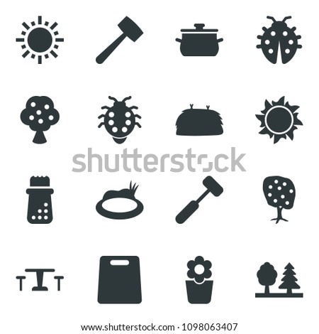 Black Vector Icon Set Sun Vector Stock Vector (Royalty Free