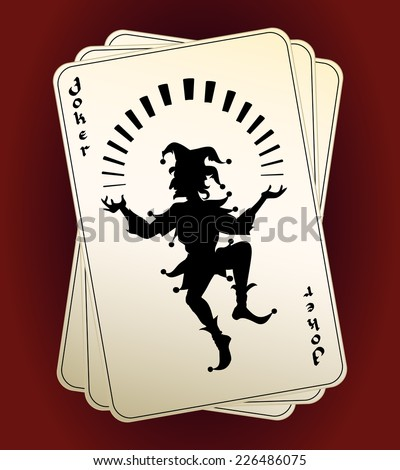 Black vector Joker silhouette