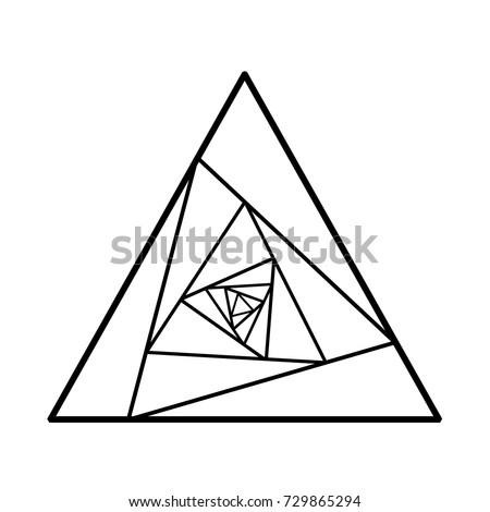 Black Vector Line Sketch Tattoo Rose Stock Vector Royalty Free