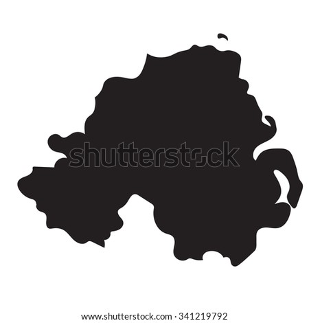 Map Of Ireland Vector.Black Vector Map Northern Ireland Stock Vector Royalty Free