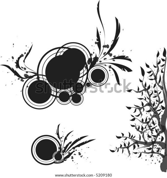 Black vector pattern for design.