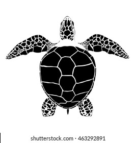 Black Vector Sea Turtle