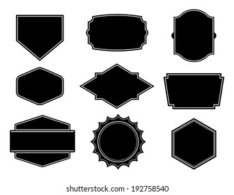 Black vector shape, template for create a business logo