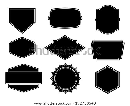 black vector shape template create business のベクター画像素材