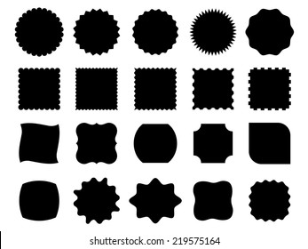 Black vector shapes