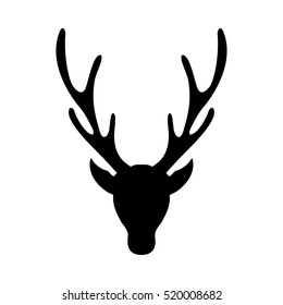 photo regarding Printable Deer Head Silhouette identified as Deer Thoughts Silhouette Shots, Inventory Illustrations or photos Vectors