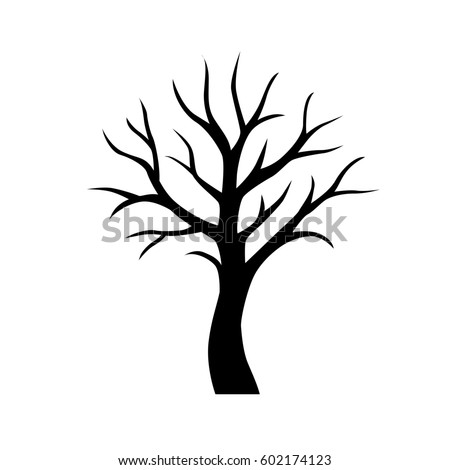 Black Vector Simple Tree Without Leaves Stock Vector (Royalty Free) 602174123 - Shutterstock