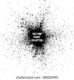 Black vector splatter background