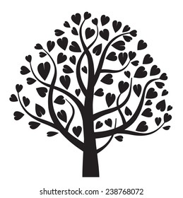 black vector tree