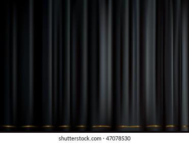 Black velvet, deep black background, mesh
