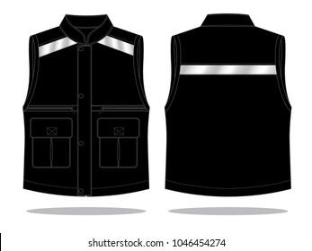 Black Vest Tank Top Design : Reflective tape