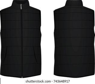 Black vest. vector illustration