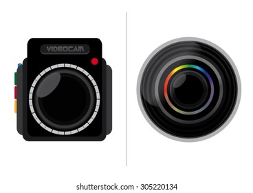 Black Video Cam And Objective