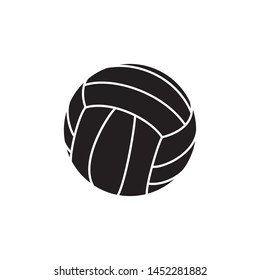black volleyball ball icon on white background. simple vector logo art for tournament illustration and sport apps. eps 10