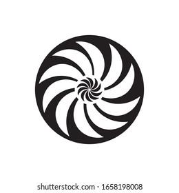 black vortex illustration logo vector