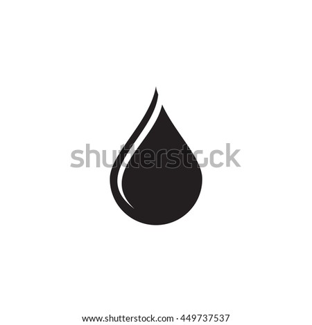 Black Water Drop Icon Stock Vector Royalty Free 449737537
