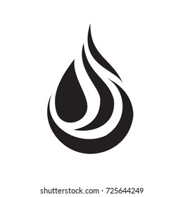 Black water drop icon, sign vector.water drop picture,logo
