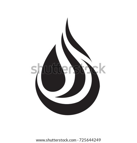 Black Water Drop Icon Sign Vectorwater Stock Vector Royalty Free