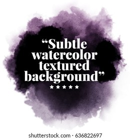 Black watercolor background