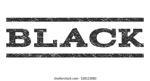Black watermark stamp. Text caption between horizontal parallel lines with grunge design style. Rubber seal gray stamp with unclean texture. Vector ink imprint on a white background.