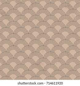 Black Wave Scales Brown Paper Pattern