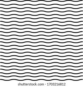 Black wave stripes background on a white background
