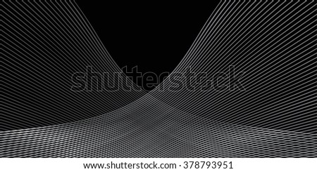 Black Wavy Background, Hi Tech Pattern, Vector Illustration, Graphic Design Template useful for your Art, Print, Web design.