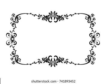 black wedding border