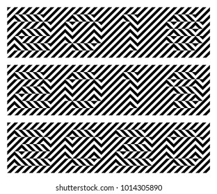 Black and white 2018, 2019, 2020. Optical illusion font. Pixelated font. Hidden, hard to read. Easy to recolor.
