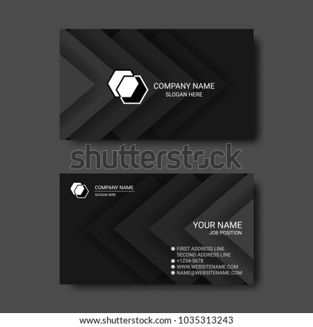 Black white abstract business card templates stock vector royalty black and white abstract business card templates friedricerecipe Gallery