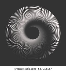 Black and white abstract halftone dots background. Vector illustration