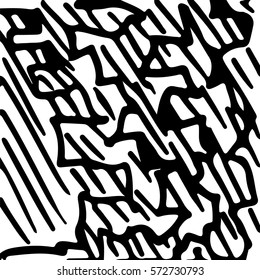black and white abstract hand drawn texture.