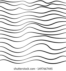 A Black and White Abstract Line Pattern. Vector