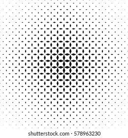Black and white abstract rhombus pattern background