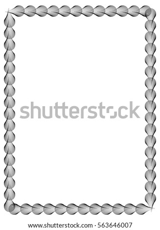 black white abstract vertical frame guilloche stock vector royalty