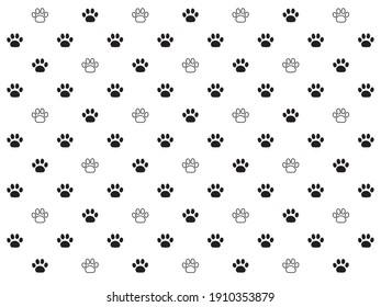 black and white animal footprint dot pattern