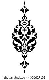 black and white antique Ottoman Turkish design pattern vector