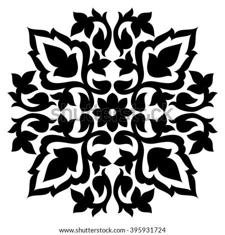Black White Antique Ottoman Turkish Design Stock Vector Royalty
