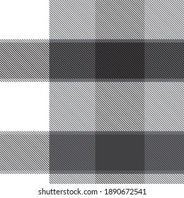 Black and White Asymmetric Plaid textured seamless pattern suitable for fashion textiles and graphics